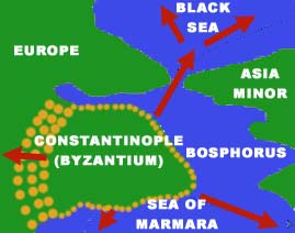 Constantinople trading routes