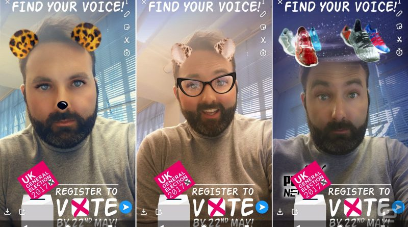 Snapchat young voters geofilter