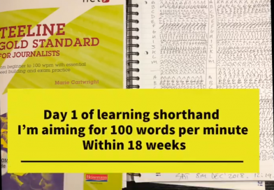 Day 1 of learning shorthand